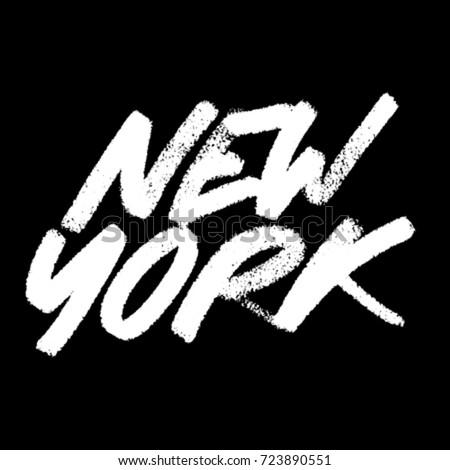 new york calligraphy chalk