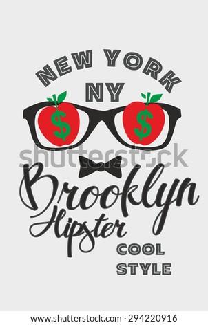 new york city big apple vector