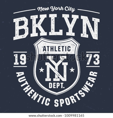 New York City BKLYN - Tee Design For Print