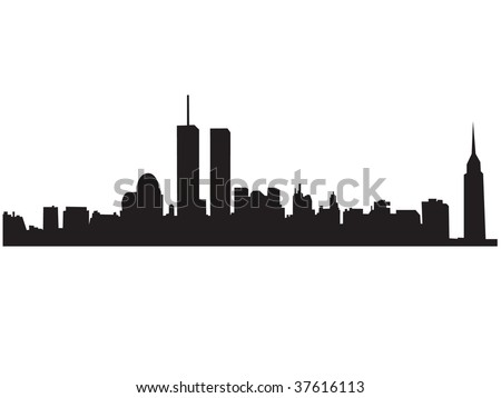 new york city skyline outline. new york city skyline outline
