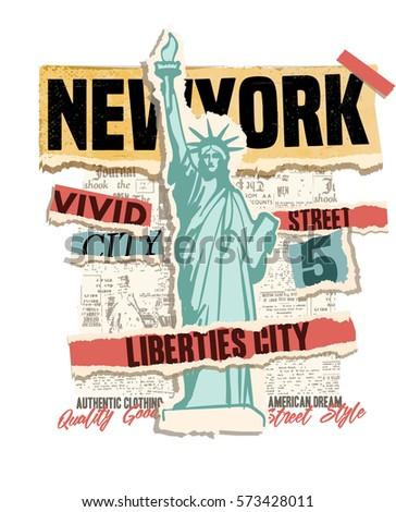 new york city clip art. vintage ...