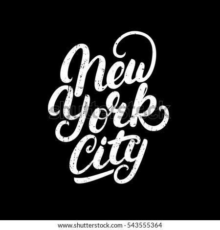 new york city hand written