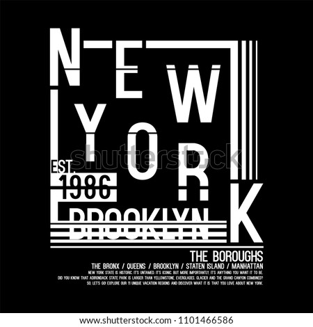 New York City letter typography Brooklyn Vintage American New York City College T-shirt and apparels graphic design Varsity Tee. College Vintage style t-shirt typography vector.