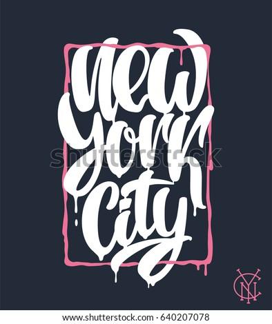 new york city  lettering design