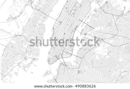New York city map with streets, Usa