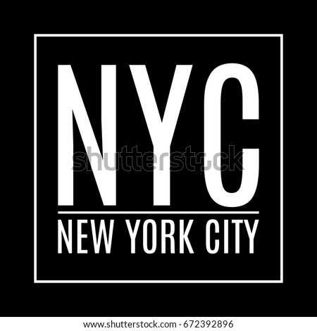 New York city. NY t-shirt print design and apparels graphic. Fashion typography, poster, banner. Vector illustration.