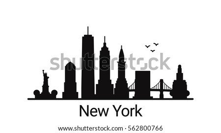 new york city outline skyline