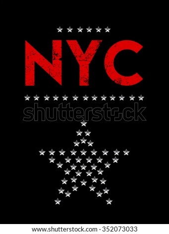 new york city print in vector