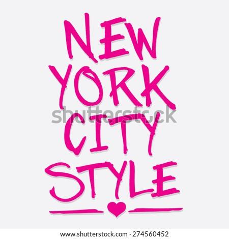 new york city style typography
