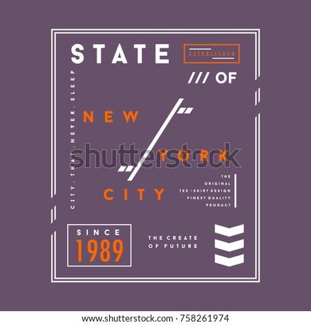 New York City typography tee shirt design graphic, vector illustration artistic idea