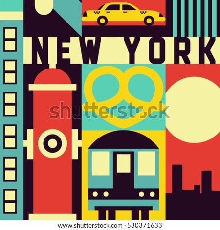 new york city  vector flat...