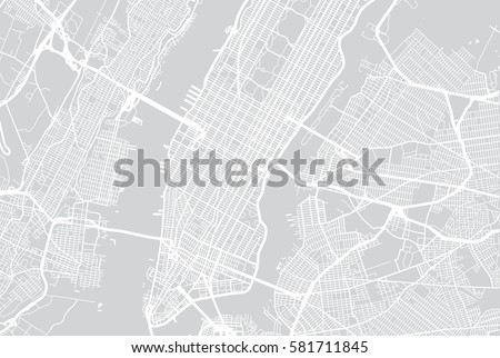New York city vector map