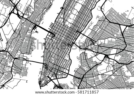 New York City Map Illustration Download Free Vector Art Stock