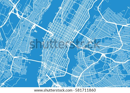 New York City Map Download Free Vector Art Stock Graphics Images - New york city map drawing
