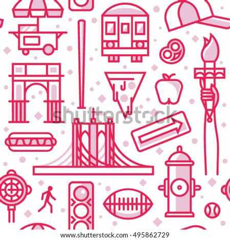 new york city  vector outline