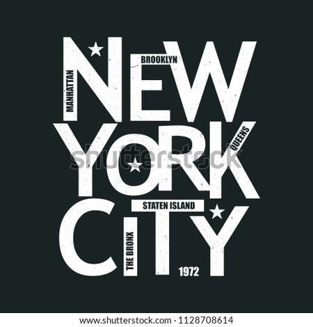 New York City Vintage T-Shirt Design. Vector.
