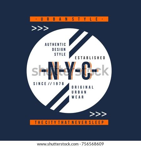 new york citytypography vintage