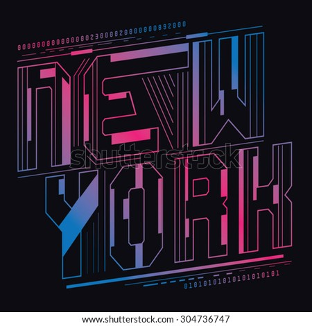 new york color typography  t