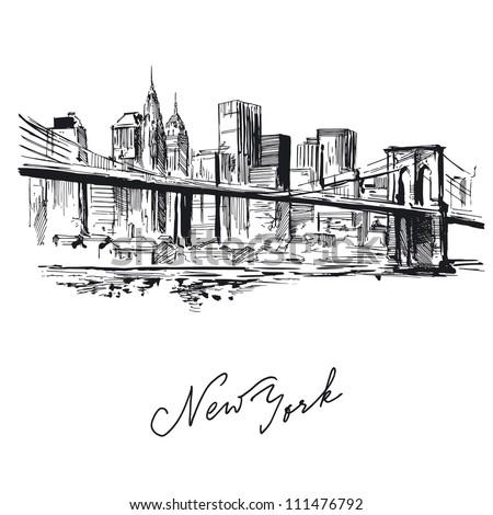 new york - hand drawn metropolis