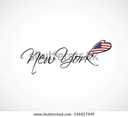 New York lettering - vector illustration
