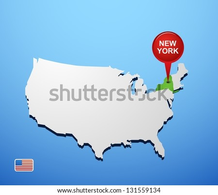 New York City Map Download Free Vector Art Stock Graphics Images - Usa map new york