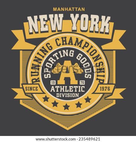 new york running typography  t