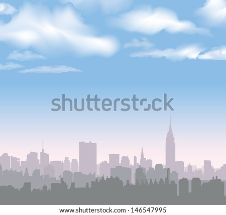 new york skyline vector usa