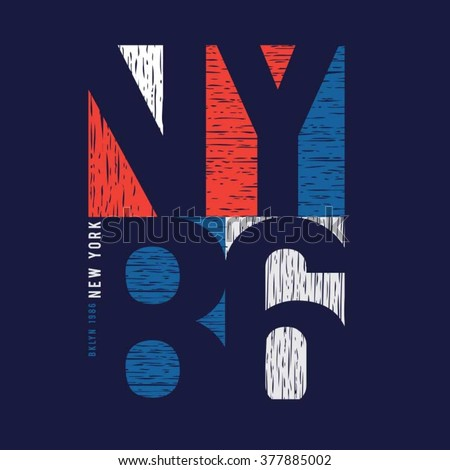 new york sport typography  t