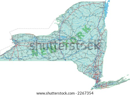 New York Map Vector - Download Free Vector Art, Stock Graphics & Images