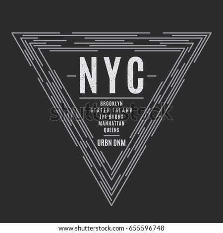 new york tee print with the