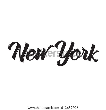 new york, text design. Vector calligraphy. Typography poster. Usable as background.
