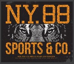 new york tiger  t-shirt graphic