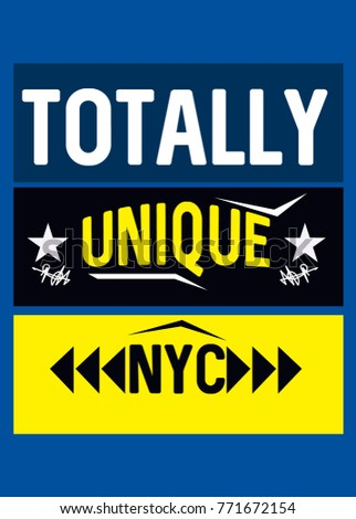 new york totally unique t shirt
