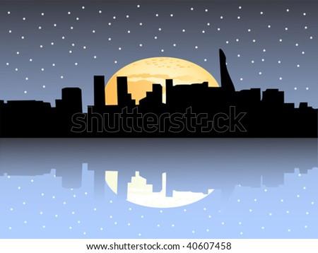 new york tower at night