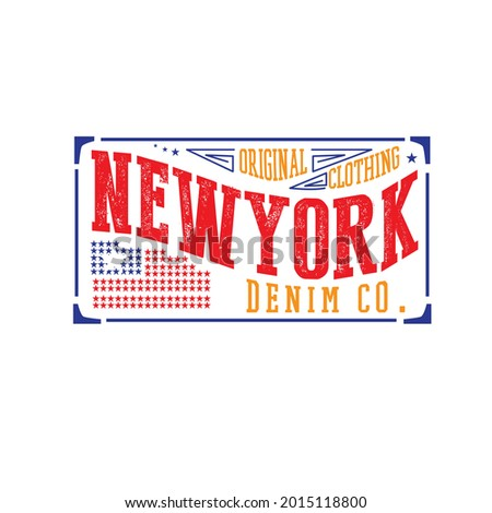 New York typography design for t-shirt design, Sign, banner,label, heritage vector Photo stock ©