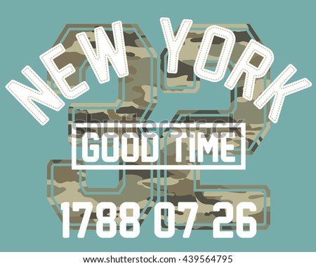 new york typography  t shirt