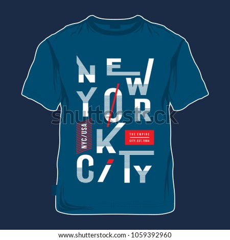 new york typography tee shirt design, vector illustration for printing