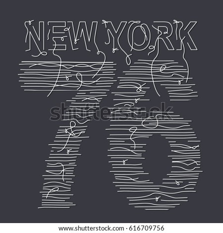 new york typography with a
