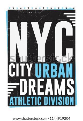 e4d24375 New York typography, t-shirt graphics,… Stock Photo 248867020 ...