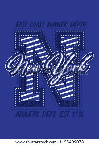 7a51ed39 new york varsity sports distressed graphic shirt apparel urban poster  #1155409078