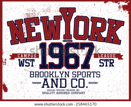 new york varsity tee graphic
