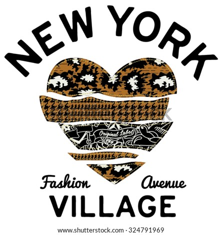 new york village typography