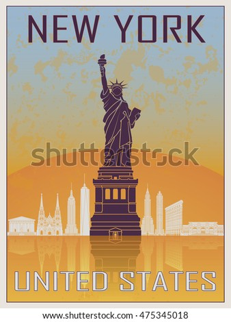 new york vintage poster 2 in