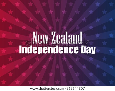 New Zealand Independence Day. Festive banner with stars and text. Vector illustration #563644807