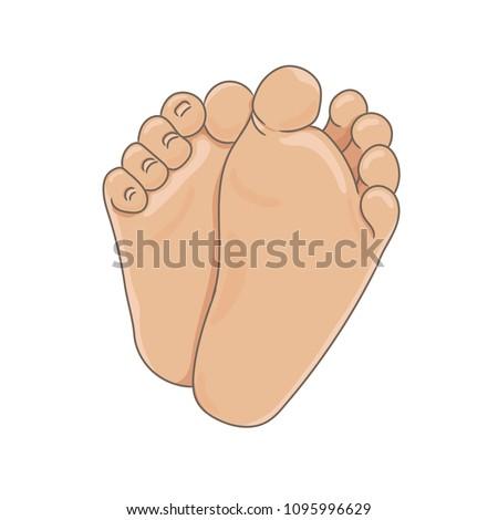 newborn baby foot soles