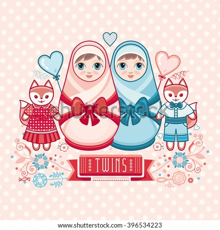 newborn little baby matryoshka