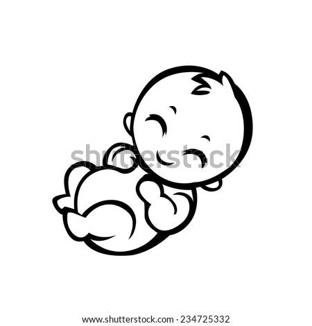 newborn little baby smiling