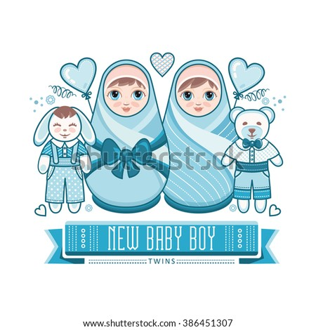 newborn little baby twins new