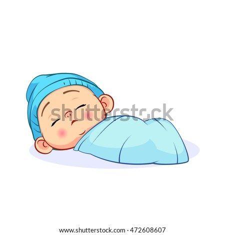 newborn sleeping baby boy in a