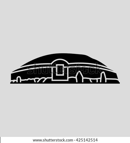 newgrange  vector illustration